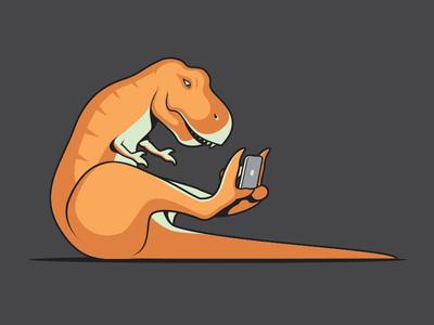 Clever Girl dinosaur vector glenn jones illustrator tshirt illustration ipad trex threadless glennz