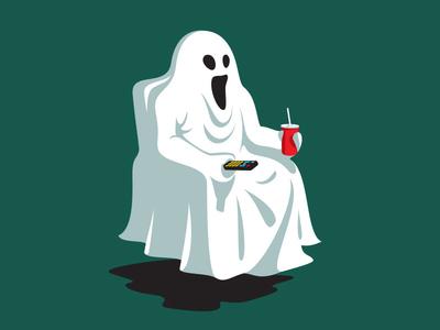 Night Off tv ghost t-shirt glenn jones vector glennz illustrator