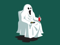 Night Off tv ghost t-shirt glenn jones vector glennz illustrator