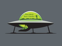 Wash Your Hands wash your hands ufo t-shirt glenn jones vector glennz illustrator