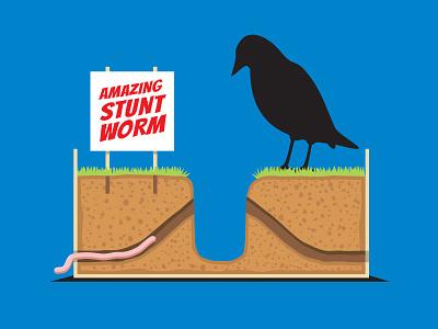 Long Shot stunt worm design glenn t-shirt illustration glenn jones vector glennz illustrator