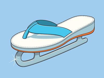Slow Seller glennz glenn jones vector illustrator illsutration ice skate tshirt