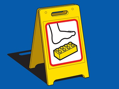 Extreme Caution glennz glenn jones vector illustrator illustration lego warning