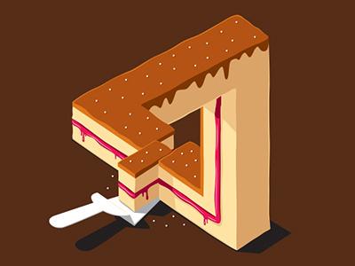 Layer Cake glennz glenn jones vector illustrator illustration illusion cake tshirt