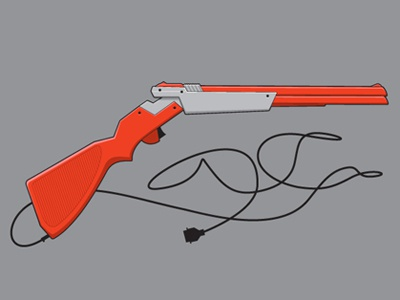 Shotgun glennz shotgun gaming duck hunt zapper nes illustrator vector illustration