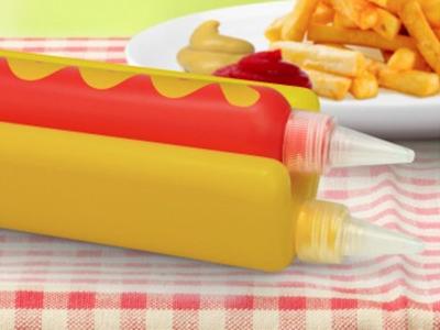 Double Dog Sauce Set glennz glenn jones vector hotdog mustard ketchup tshirt