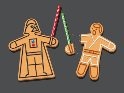 Delectable Darkside tshirt luke darth gingerbread darkside vector glenn jones glennz
