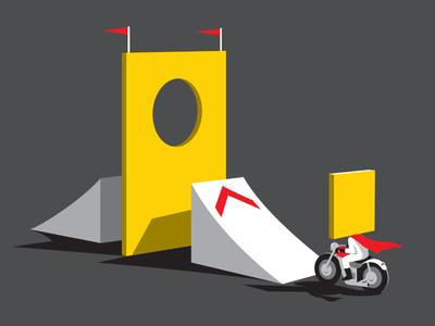 Stunt Square t-shirt square peg round hole stunt illustration illustrator vector glenn jones glennz