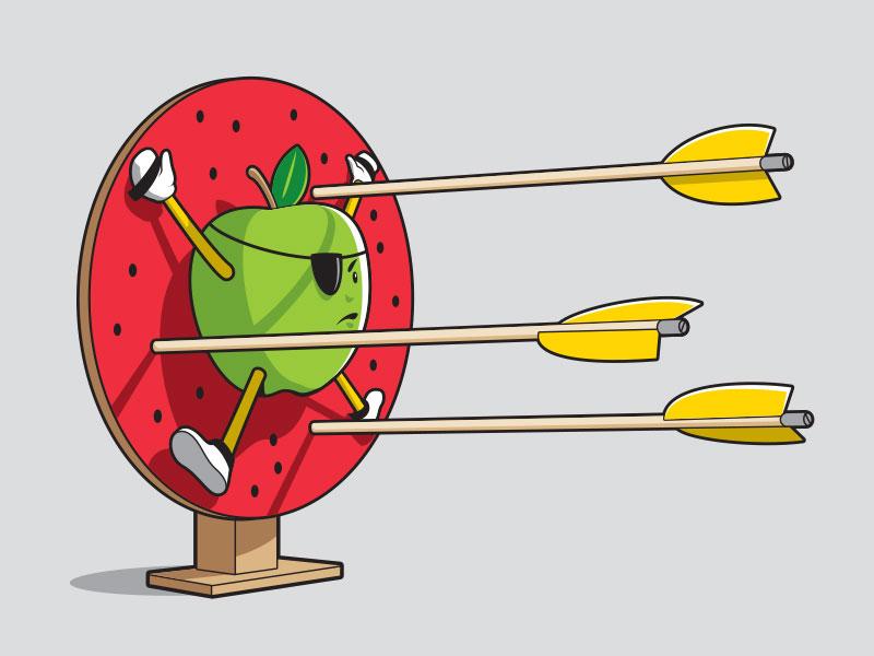 Daredevil t-shirt arrow apple illustration illustrator vector glenn jones glennz