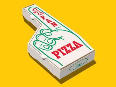 Pizza Fan  t-shirt finger fan number1 pizza vector glenn jones glennz