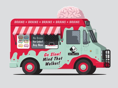 Zombie Treat t-shirt ice cream truck zombie illustraton illustrator vector glenn jones glennz
