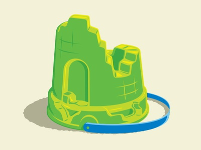 Sand Castle Ruins  t-shirt bucket sandcastle illustration illustrator vector glenn jones glenn
