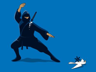 Big Mistake glennz glenn jones vector art shirt tee illustrator illustration ninja