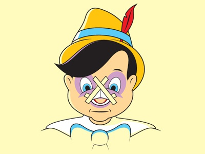 Nose Job glennz glenn jones vector art design illustrator pinocchio nose job illustration