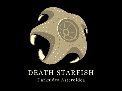 Death Starfish tshirt illustrator illustration death star starfish vector glenn jones glennz