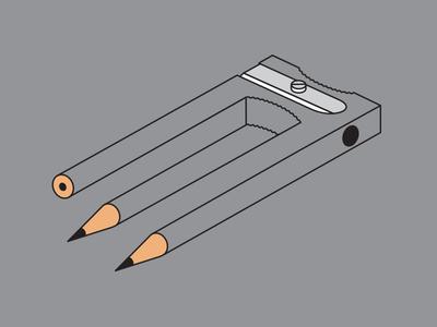 Sharpen Up sharpener pencil vector tshirt illusion illustration illustrator glenn jones glennz