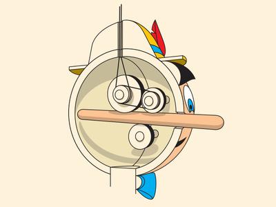 How Do They Do It tshirt illustration illustrator vector pinocchio glenn jones glenn