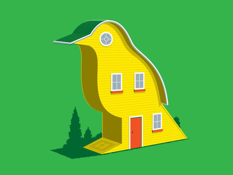 Bird House tshirt birdhouse illustration illustrator vector glenn jones glennz