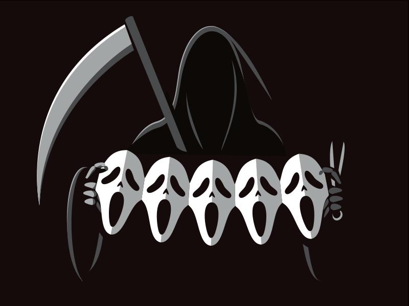 Killing Some Time tshirt illustration illustrator scream grim reaper glenn jones glennz