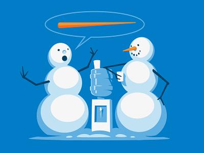 Water Cooler Stories tshirt water cooler snowman illustration illustrator vector glenn jones glenn