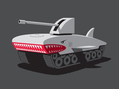 Shark Tank illustration illustrator tank shark glenn jones glennz