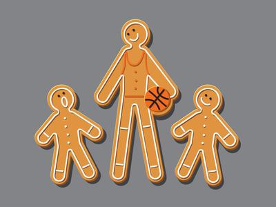 Genetics tshirt vector illustration illustrator gingerbread glennz