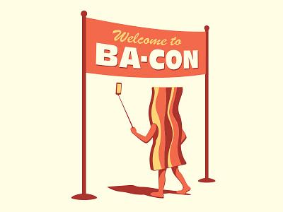 Bacon Convention glenn jones glenn vector illustration illustrator convention bacon