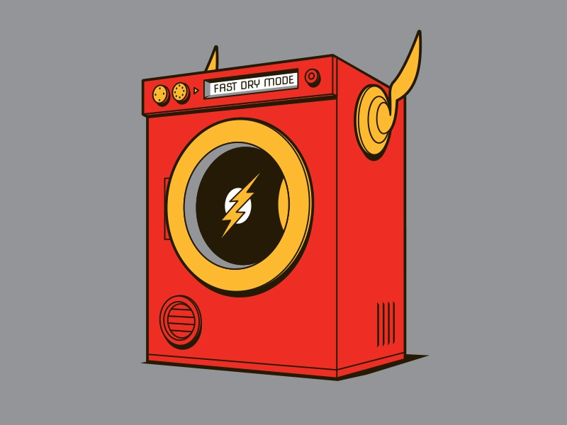 Quick Dry t-shirt dryer flash illustrator vector glenn jones glenn