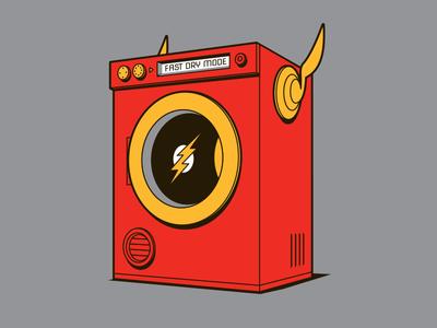 Quick Dry t-shirt dryer flash illustrator vector glenn jones glenn