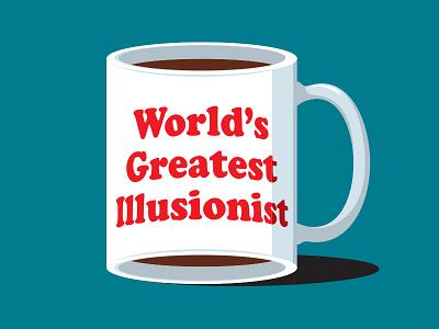 Illusionist's Coffee tshirt glennjones glenn illustration illustrator vector illusion mug coffee