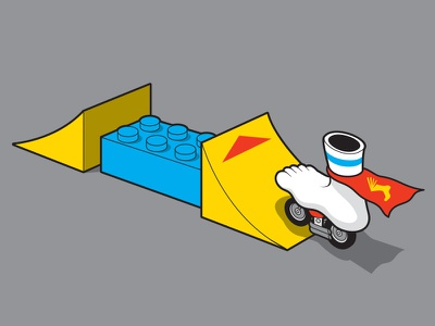 Stunt Foot tshirt foot stunt vector illustrator illustration glenn jones glenn