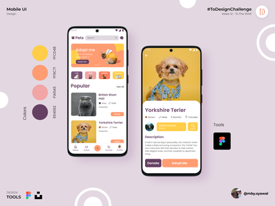 Pets Apps interaction design uidesign app design ui