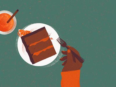 ORANGE CAKE eat cakery dessert sweet cake illustration cake food and drink food food illustration photoshop illustrator illustration digital illustration art illustration digital illustration digital art
