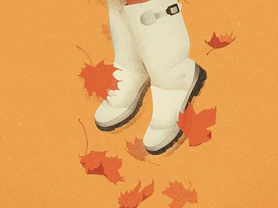 LEVITATE autumn leaves orange autumn fall photoshop illustrator illustration digital illustration art illustration digital illustration digital art