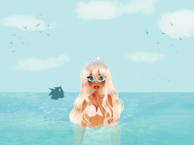Don't Tell I'm Here | Mermaid Character Art