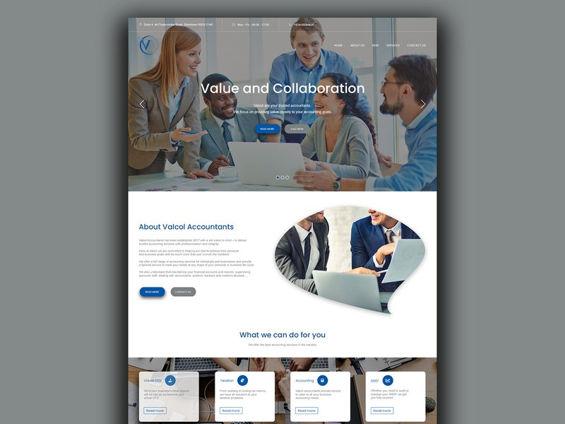 ACCOUNTING FIRM WEBSITE web ux ui design