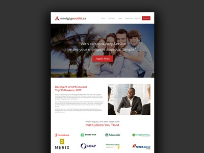 Mortgage Website Redesign typography ui ux design