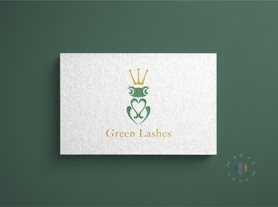 Business card for studio eyelash art flat minimal typography branding logo design illustration