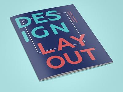 Cover design for «Design & Layout» brochure cover magazine cover magazine журнал дизайн логотипа графический дизайн брошюра буклет верстка дизайн mockup designer typography layout indesign brochure design brochure graphic design design branding