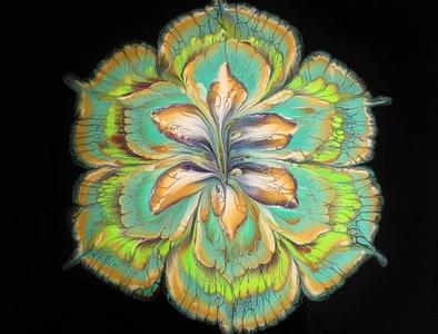 A flower artwork paintings art dirty pouring fluid pouring fluid acrylic illustration fluid art acrylic painting