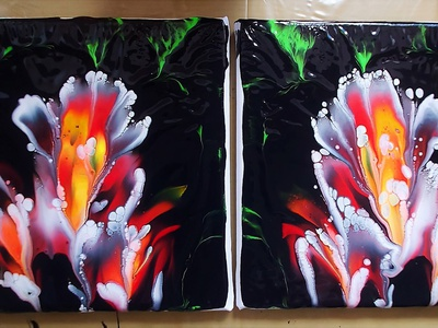 CANVAS TO CANVAS DIP artwork paintings art dirty pouring fluid pouring fluid acrylic illustration fluid art acrylic painting