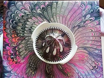 STRAINER SPLIT CUP POUR artwork abstract splitcuppour dirty pouring fluid pouring fluid acrylic illustration fluid art acrylic painting