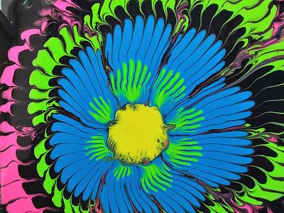 POUR OVER LEMON SQUEEZER fluids artwork paintings art dirty pouring fluid pouring fluid acrylic illustration fluid art acrylic painting