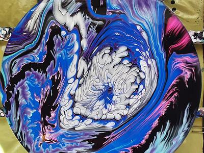 SPLIT CUP POUR  WITH SATIN ENAMEL fluids artwork paintings art dirty pouring fluid pouring fluid acrylic illustration fluid art acrylic painting