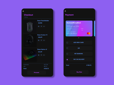 Checkout Page   Daily UI #002 user interface uidesign ui payment method payment dailyuichallenge dailyui002 daily ui dailyui creditcard credit card checkout app design design app 002