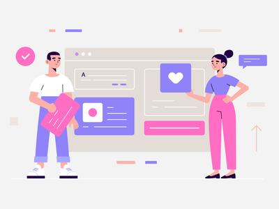 Website design landing page