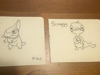 Axew and Scraggy