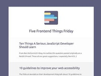 Five Frontend Things Friday