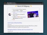 Updated kevinridgway.com