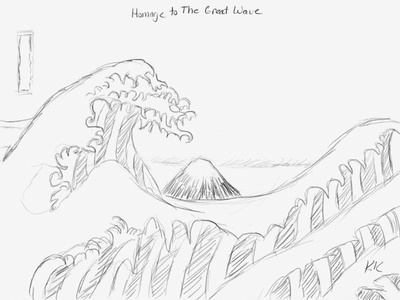 Day 11: Homage to The Great Wave